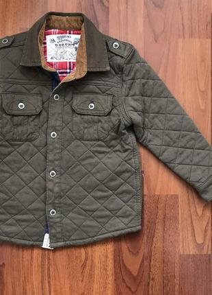 Стеганая курточка рубашка 3-4 года