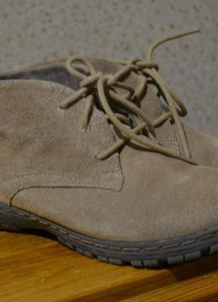 Ботинки tamaris. натуральная замша.размер 39.