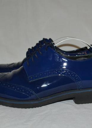 Лаковые кожаные туфли navyboot, р. 36-37