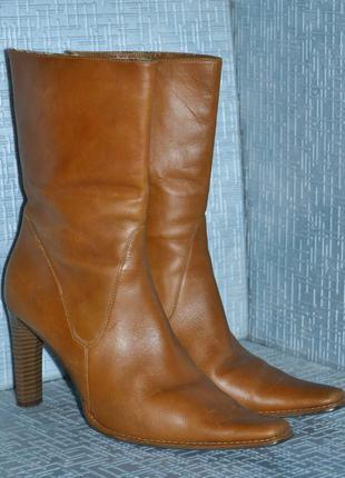 Итальянские кожаные полусапожки, бренд zandonella
