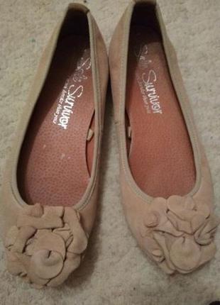 Туфли, балетки летние женские замшивые 37 р.