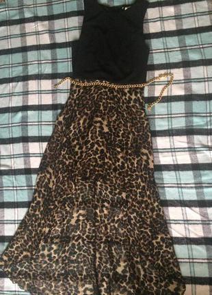 Платье со шлейфом с принтом