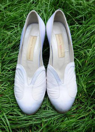 Дизайнерские свадебные туфли р37 valentin yudashkin