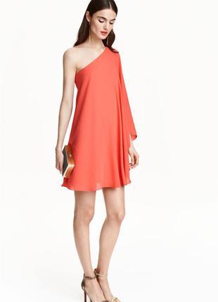 Короткое шифоновое платье от h&m