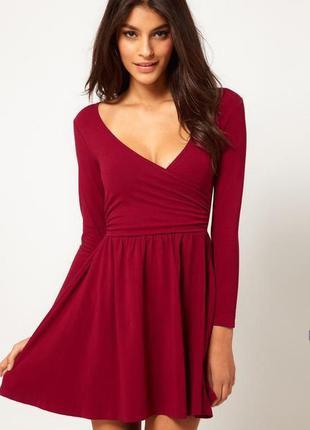 Платье asos бордо