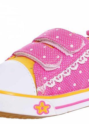 Кеды розовые для девочки джинсовые1 фото