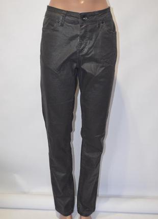 Джинсы скинни брюки с напылением под кожу / elvira casual, 40