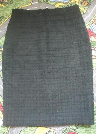 Фактурная юбка миди карандаш