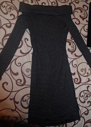 Платье с открытыми плечами\плаття міді\цупке плаття відкриті плечі\опущенные плечики