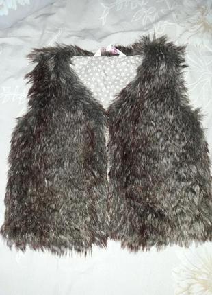 Супер меховая жилетка для девочки