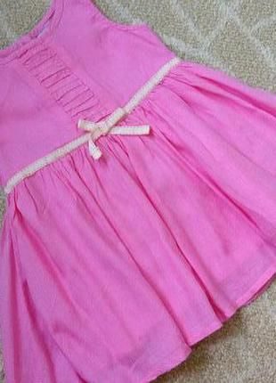 Sale! очаровательное фирменное платье сарафан next на 6-9 месяцев