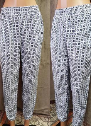 Легкие штаны,летние штаны в принт,легкие летние штаны на резинке