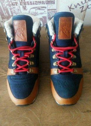 Кроссовки зимние утепленные reebok classic leather оригинал кожаные