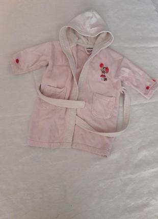Хорошенький халат surprises для девочки 3-4 года