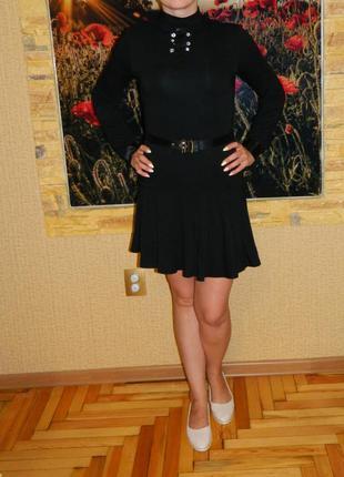 Платье новое черное для школы на рост 170 см. каменская фабрика р. 42-444