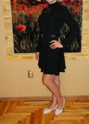 Платье новое черное для школы на рост 170 см. каменская фабрика р. 42-445