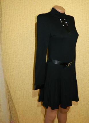Платье новое черное для школы на рост 170 см. каменская фабрика р. 42-442