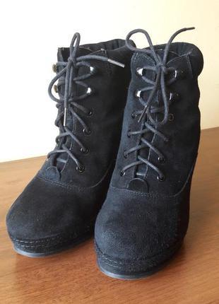 Модные женские замшевые ботинки topshop
