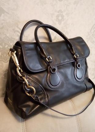 Большая брендовая кожаная сумка tumi