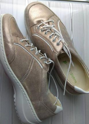 Туфли кожаные,для проблемных широких стоп с косточками.германия.,, waldaufer,,размер 37,5