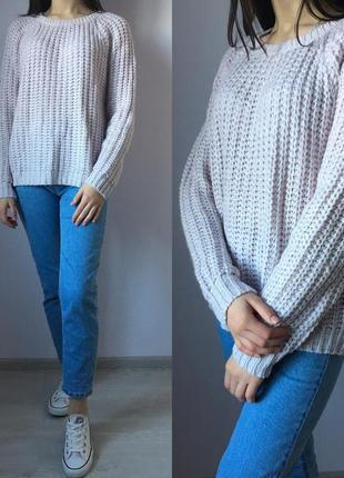 Актуальный нежный теплый вязаный свитер оверсайз  dorothy perkins