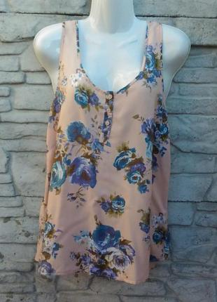 Распродажа!!! красивая, нарядная блуза бежевого цвета в цветочный принт e-vic