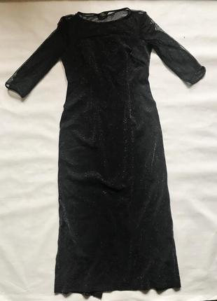 Шикарное платье с серебристым напылением