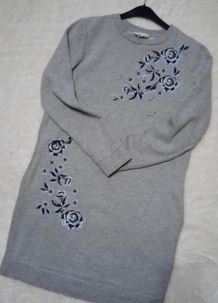 Свитшот платье с вышивкой miss selfridge
