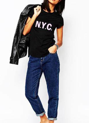 Модная футболка n.y.c. 100% хлопок