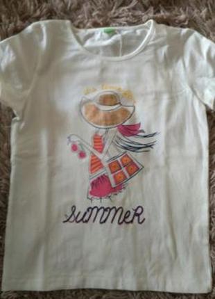 Фирменная футболочка n-joy для девочки 9-11