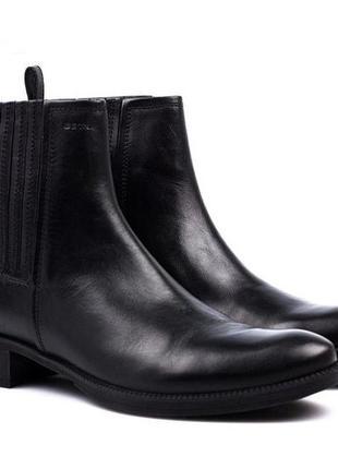 Ботинки челси geox индия натуральная кожа р. 38 ст. 25-26 см