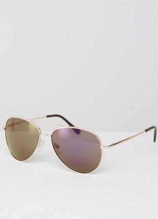 Солнцезащитные очки‑авиаторы с зеркальными стеклами missguided