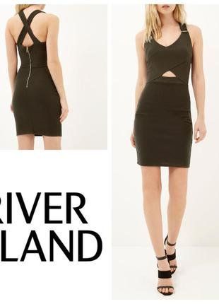 Бандажное платье футляр river island  с переплетом на спине