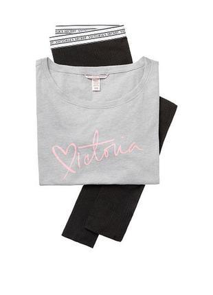 Пижама домашний костюм лосины футболка виктория сикрет victoria's secret