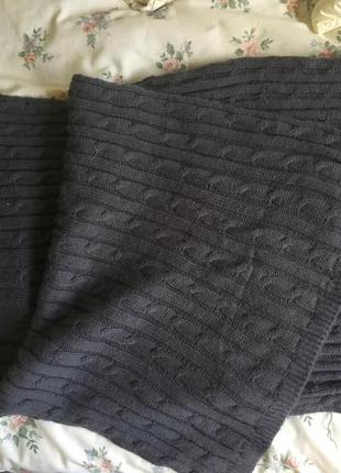 Серый длинный и широкий шарф