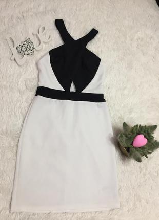 Платье черно белое new look размер s