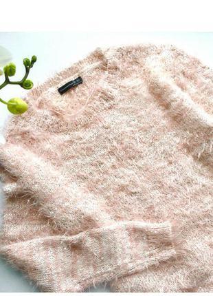 Нежный розовый свитер травка atmosphere