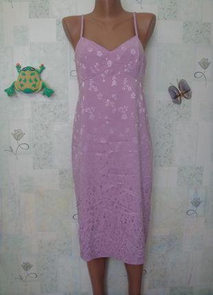 Нежное платье в бельевом стиле 44 рр