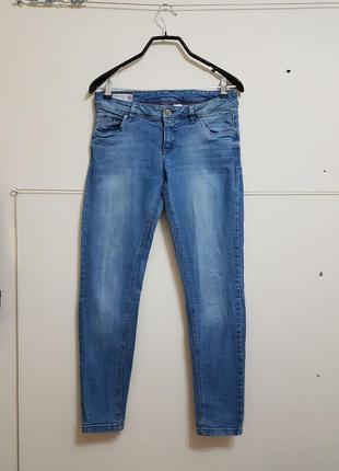 Стильные синие джинсы super skinny