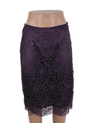 Кружевная юбка баклажанного цвета 17389