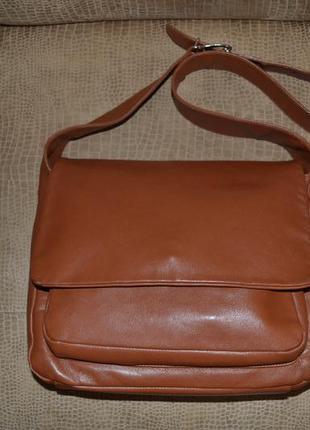 Брендовая итальянская сумка из натуральной кожи gianfranco dolci.