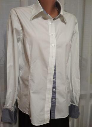 Белая рубашка, блуза, хлопок. 1+1= 50% скидки на 3ю вещь.