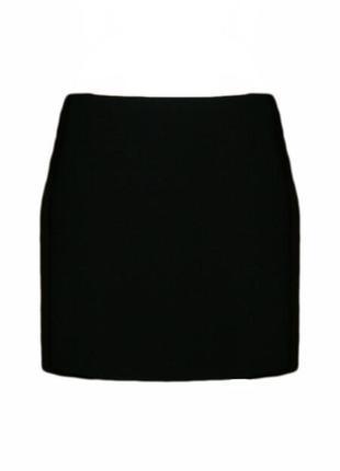 Короткая прямая классическая юбка на резинке, офис размер 14 наш 48