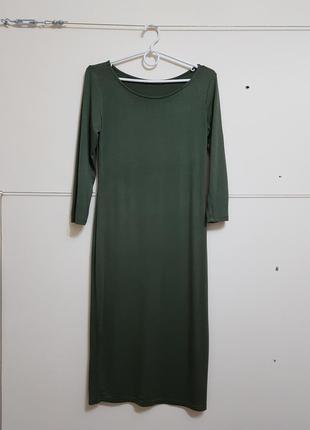 Длинное платье цвета хаки atmosphere