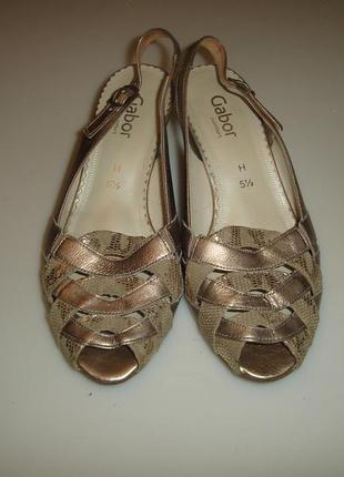 Кожаные туфли gabor р 5,5 h стелька 25,5 см кожа