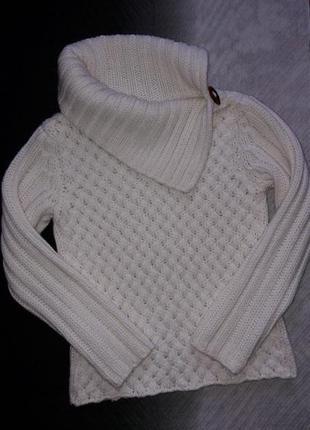 """Уютный и мягкий свитер крупной вязки """"нежный кремовый"""""""