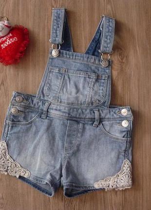 Ромпер джинсовый