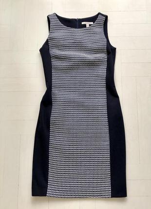 Платье черно/белое на подкладке/ деловое/espirit