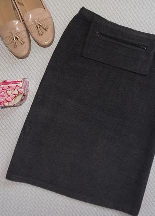Очень тёплая юбочка миди с высокой талией