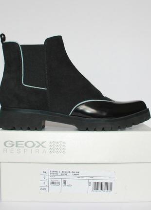 Ботинки челси geox respira d jewel c оригинал натуральная кожа 36-40